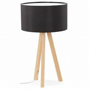 Lampe À Poser Scandinave : lampe poser style scandinave avec abat jour trivet noir ~ Melissatoandfro.com Idées de Décoration