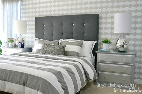 How To Make A Cloth Headboard by Remodelaholic Diy Tufted Upholstered Headboard Tutorial