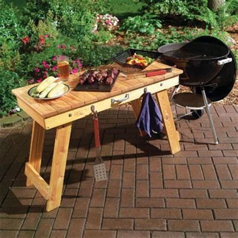bbq table plans  woodworking projects plans