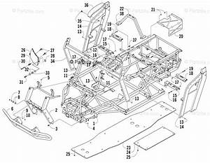 Arctic Cat Side By Side 2006 Oem Parts Diagram For Frame