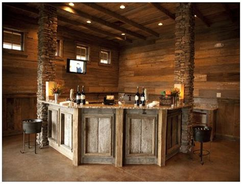 Corner Bar Basement by Corner Pallet Bar Mancave Home Ideas Rustic Basement
