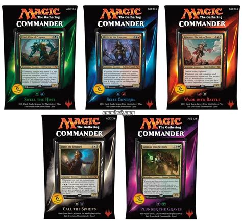 mtg sle decks 2017 magic commander deck 2015 set of all 5 decks factory