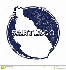 Santiago Island Vector Map  Stock Vector