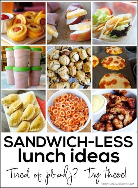 lunches for sandwichless lunch ideas