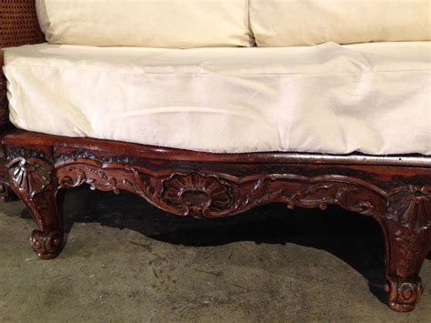 canape regence a unique caned regence style walnut wood canape from