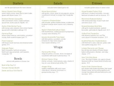 To Go Menu Template Free by Restaurant To Go Trifold Folding Menu Pages