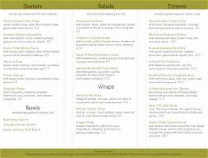 restaurant to go trifold folding menu pages With to go menu template free
