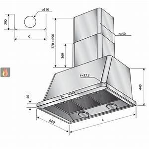 Escalier Ajustable En Hauteur : hotte d corative murale 120cm avec clairage halog ne ~ Premium-room.com Idées de Décoration