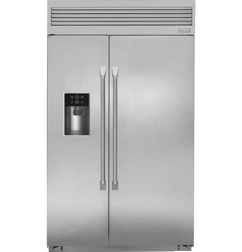 monogram  built  professional side  side refrigerator  dispenser zispdkss ge