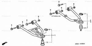 Honda Atv 2001 Oem Parts Diagram For Front Arm   U0026 39 01