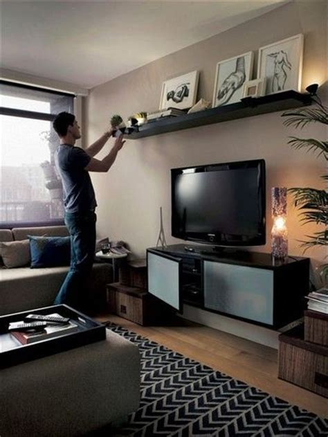 your shelf could also be a focal point above TV / For the