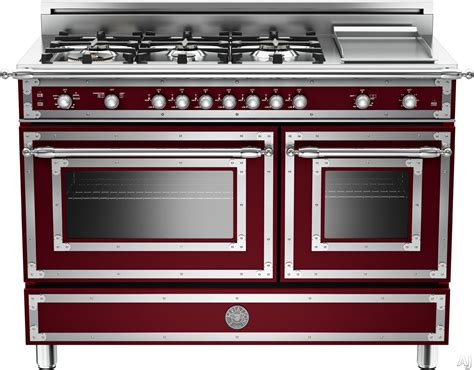 bertazzoni her486ggasvi 48 inch traditional style gas range with 6 sealed brass burners 3 6 cu