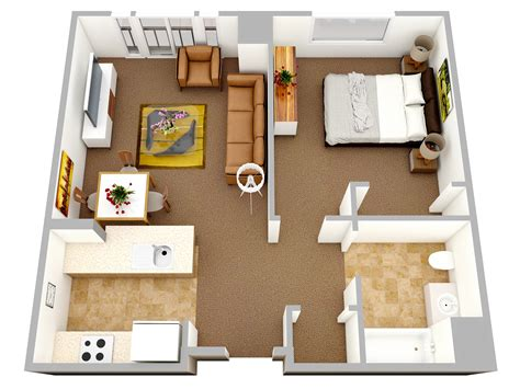 chambre appartement 1 bedroom apartment house plans