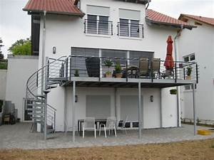 verzinkte spindeltreppe beispiel 10 deko balcon With whirlpool garten mit balkon stahlkonstruktion preis