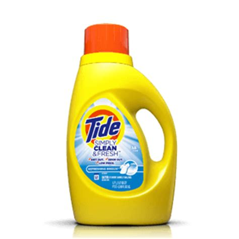 simply clean fresh laundry detergent tide