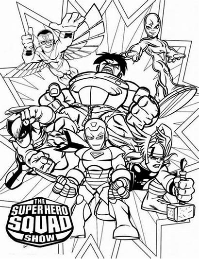 Coloring Hero Squad Superhero Marvel Magnificent Superheroes