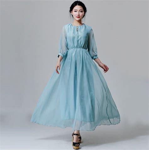 sleeve light blue dress light blue maxi dress with sleeves naf dresses