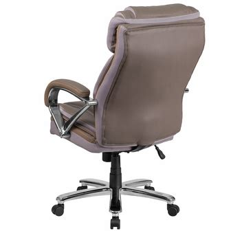 hercules series big tall 500 lb rated taupe leather