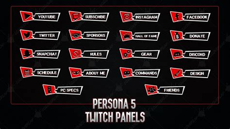 persona  twitch panels loloverlay