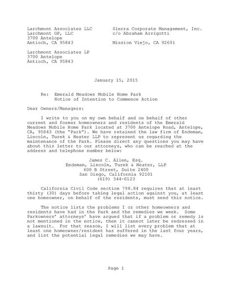 letter  intent   legal action template examples