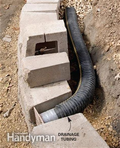 how to build drainage for retaining wall landscaping tips for your backyard the family handyman
