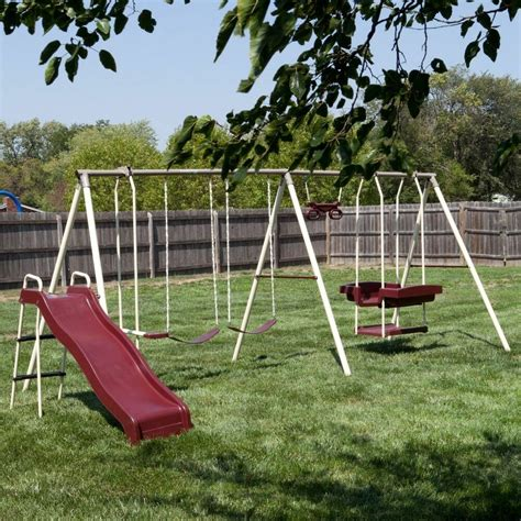 Kid Swing Set by Swing Set Outdoor Children Backyard Slide Ladder