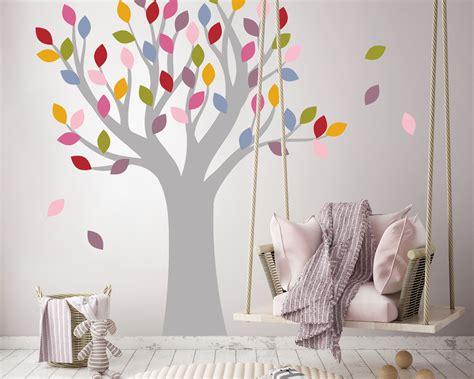 Wandtattoo Kinderzimmer Baum by Wandtattoo Bunter Baum F 252 R Farbenfrohe Kinderzimmer