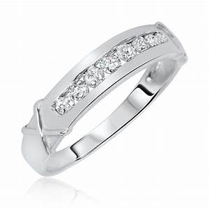 5 8 carat tw diamond matching wedding rings set 14k With matching wedding rings white gold