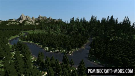 beautiful mountains map  minecraft   pc