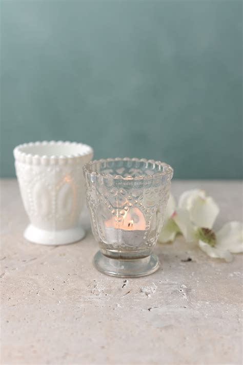votive candle holder 6 clear glass hobnail heirloom votive candle holders