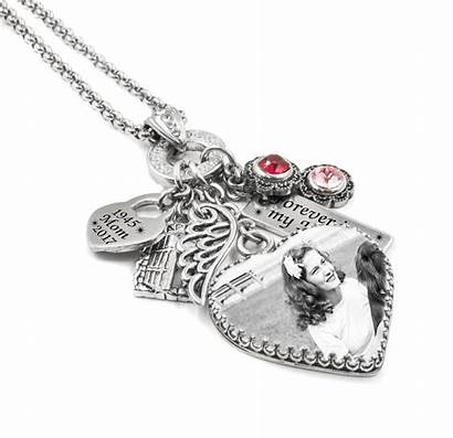 Necklace Heart Memorial Personalized Jewelry Silver Sterling