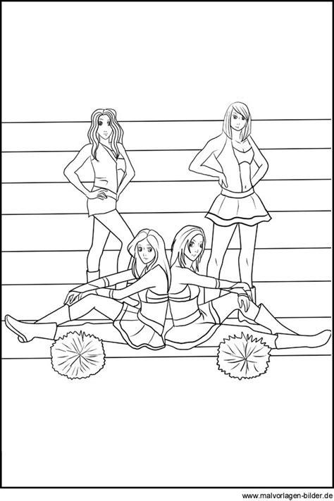cheerleader gratis malvorlagen und ausmalbilder