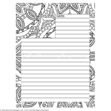 Coloring Journal by 5 Journal Page Coloring Pages Getcoloringpages Org