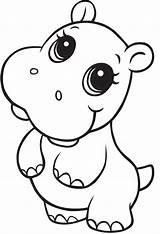 Hippo Coloring Going Printable Dancing Funny Animals Normal Smiling Categories Coloringonly sketch template