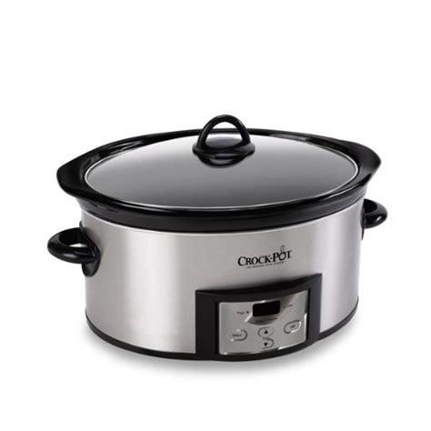 crock pot programmable 6 quart cooker cookers