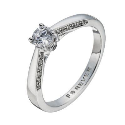 the forever diamond 18ct white gold 2 5 carat solitaire ring h samuel the jeweller