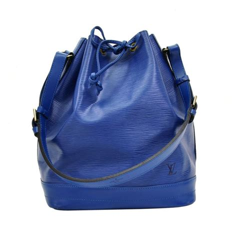 louis vuitton noe blue epi leather large shoulder bag