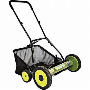 Sun Joe Mow Joe 20 U0026quot  Manual Reel Mower With Catcher