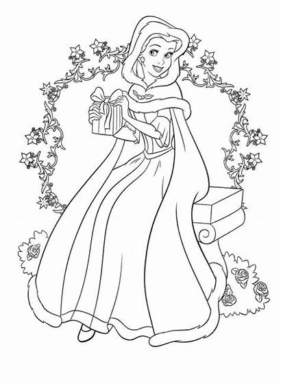 Coloring Princess Belle Disney Pages Printable Sheets