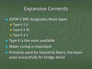 CON 123 - Session 4 - Hydraulic Cement Specifications