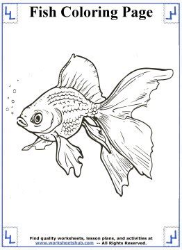 fish coloring pages printable coloring sheets
