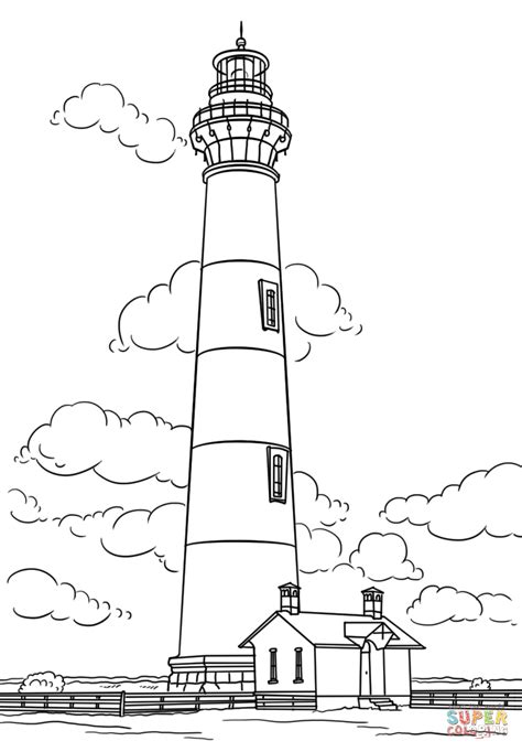 lighthouse coloring pages bodie island lighthouse carolina coloring page