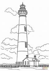 Lighthouse Coloring Pages Island Carolina North Bodie Drawing Printable Sheets Lighthouses Simple Ocean Drawings Sketch Colouring Template Tattoo Trans Am sketch template
