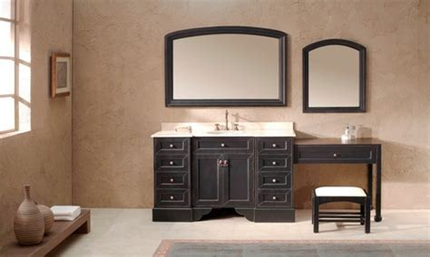 Single Sink Bathroom Vanity With Makeup Area Ideas