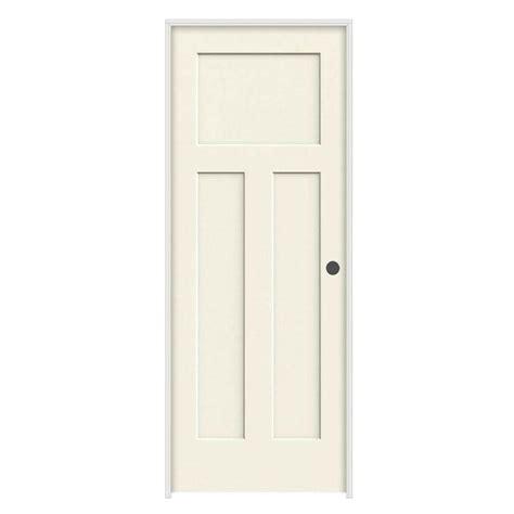 Prehung Interior Doors by Jeld Wen 30 In X 80 In Craftsman Vanilla Painted Left