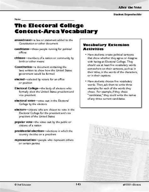 Electoral College Worksheet Resultinfos