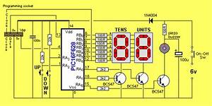 Seven Segment Up Counter And Timer Circuit