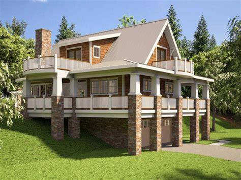 hillside house plans  walkout basement hillside house plans  sloping lots house plans