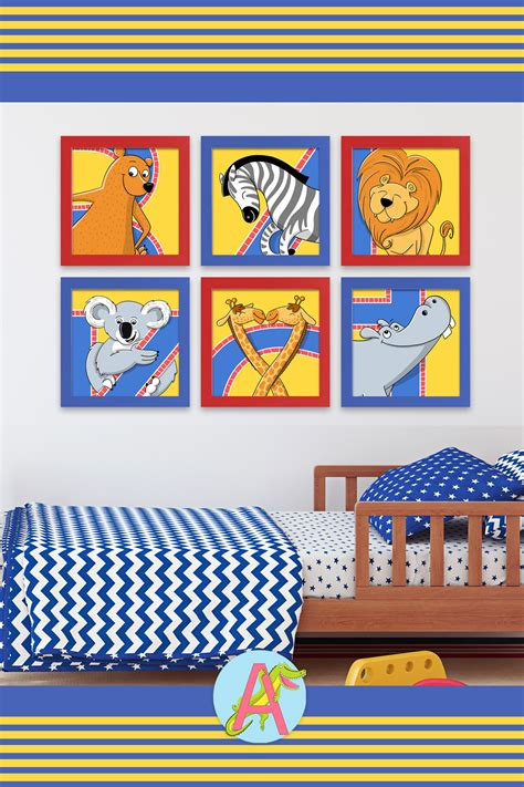 Kids posters need to be bright and colorful. Zoo Animal Posters | Primary Color in 2020 | Animal posters, Zoo animals, Art for kids