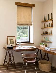 L Shaped Farmhouse Home Office Design